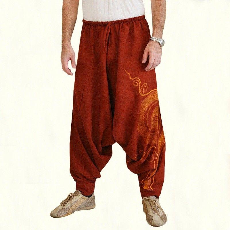 New Hip Hop Japanese Retro Baggy Cotton Linen Harem Pant Men Women Plus Size Wide Leg Trousers New Boho Casual Pants Cross-pants худи xxxtentacion