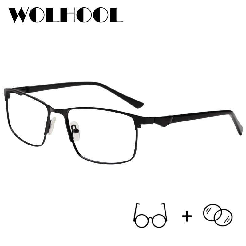 Glasses-Frame Eyewear Optical Progressive Photochromic Women Light Metal