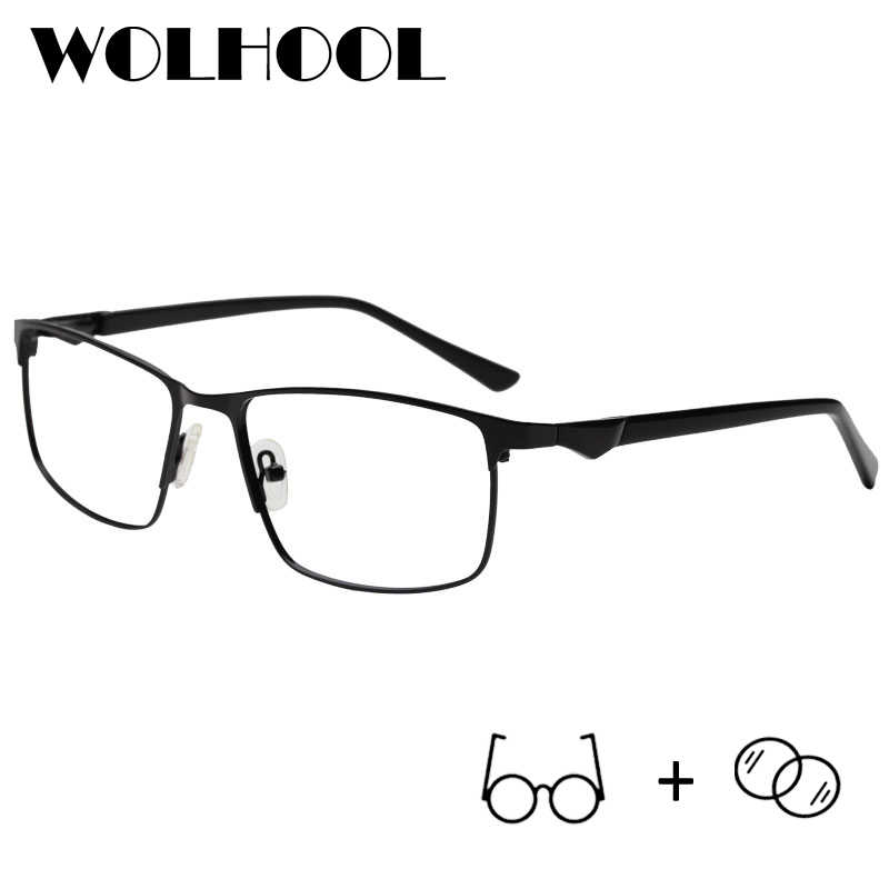 e8fb7645a1e Anti Blue Ray Glasses Computer Glasses Spectacle Frames Myopia Eyeglasses  Stainless Vintage Optical Prescription Glasses Men