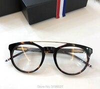 THOM Handmade Acetate Frame Women Johnny Depp Eye Glasses Men Brand Designer Tortoise Optical Spectacle Demi Myopia tb408