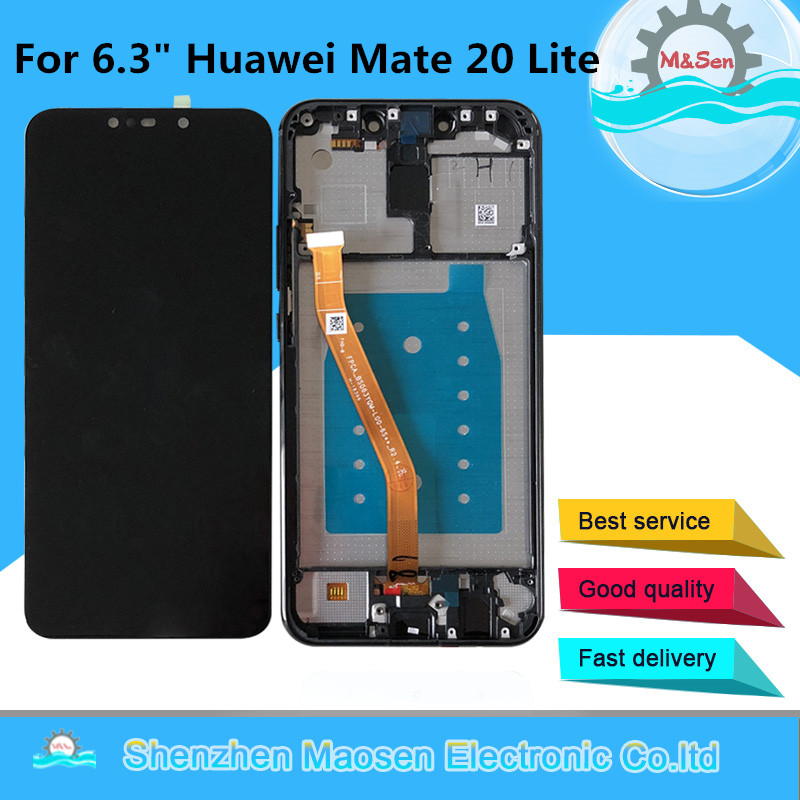 """6.3"""" Original Tested M&Sen For Huawei Mate 20 Lite LCD Screen Display+Touch Panel Digitizer For Huawei Mate 20 Lite Lcd Frame"""