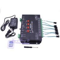 WS2812 контроллер светодиодный музыкальный контроллер M 8000 prograble 8096 пикселей RGB контроллер для WS2812B WS2801 SK6812 Светодиодная лента
