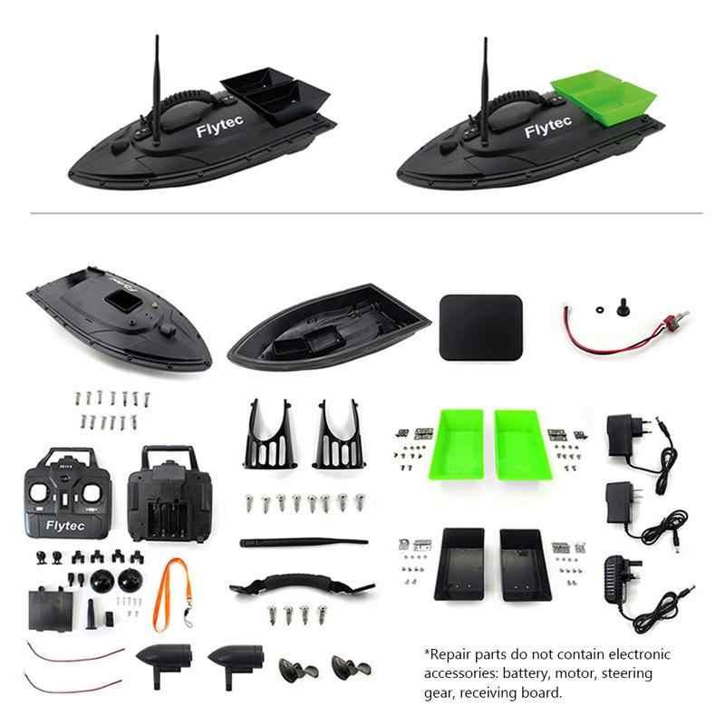Equipo de pesca accesorio herramienta 500 metros inteligente RC cebo barco juguete doble almacén cebo pesca paquete Kit de actualización color negro