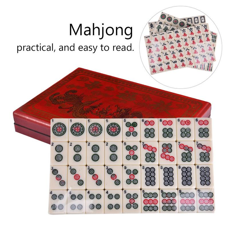 High Quality 2027-1 English Mahjong Set with Retro Leather Box Traveling Portable Mahjong Board GamesHigh Quality 2027-1 English Mahjong Set with Retro Leather Box Traveling Portable Mahjong Board Games