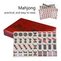 High Quality 2027 1 English Mahjong Set with Retro Leather Box Traveling Portable Mahjong Board Games