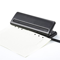 1pc 6 Hole Standard Paper Punch Adjustable Hole Punch Handmade Loose Leaf Notebook Diary Manual Puncher DIY Tool