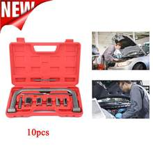10 stks/partij Auto Reparatie Tool Set Box Automobiel Removal Tool Automotive Lente Compressor Kit Anti-Roest Voor Van Motoren motorfiets(China)