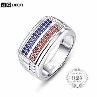 87ccc6eb9255 925 Sterling Silver Rings Blue Red Pave AAA Cubic Zircon CZ Stone Geometric  Punk Women S. 925 anillos de plata ...