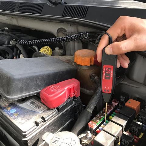 Car Digital LCD Electric Voltage Test Pen Professional Automotive Tester Pencil  With LED Light Detector Pakistan