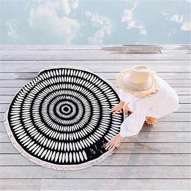 Round Microfiber Tessellate Mandala Beach Towel - Beach Blanket 5
