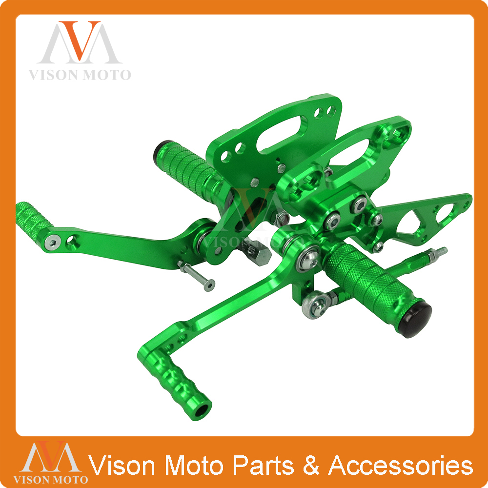CNC Adjustable Rearsets Foot Pegs Rear Sets For Kawasaki Z1000 Z 1000 ABS 10 11 12 13 14 15 16 2010-2016 Racing Motorcycle