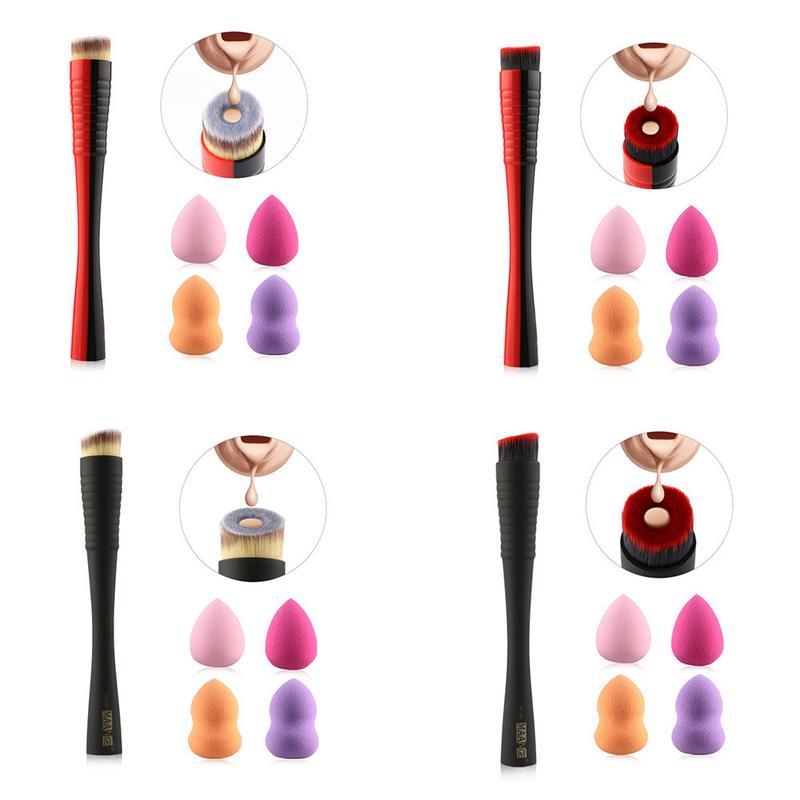 1 Pz Trucco Concavo Liquido Prodotti Di Base Set Di Pennelli Di Soffio Vestito Crema Singolo Di Trucco Spazzole Di Trucco Strumenti Pincel Maquiagem Make Up Modellazione Duratura