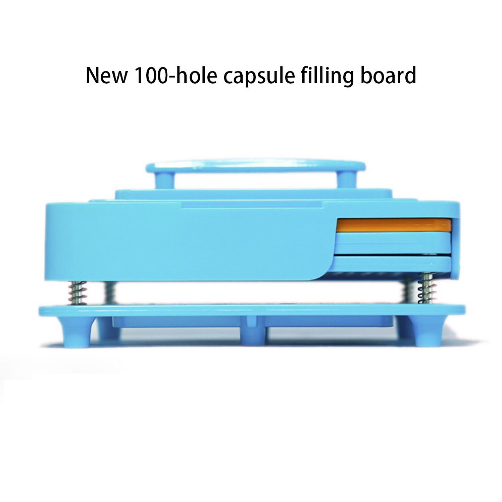 Capsule Filler Plate 100 Hole Size 0 Capsule Plate Capsule Filling Manual Bulk Filling Capsule Filling Device Powder