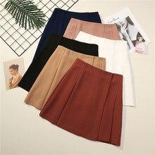 Женская Асимметричная юбка с высокой талией, короткая пикантная мини юбка в Корейском стиле, юбка на весну и лето, C5472Юбки    АлиЭкспресс