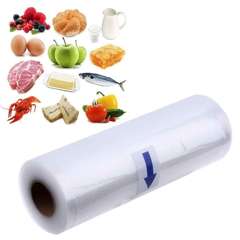 Новые бытовые Еда вакуумный упаковочный пакет для вакуумный упаковщик вакуумный хранения сумка для продуктов свежий долго сохраняя 15/17/22/28 см * 500 см, 1 рулон