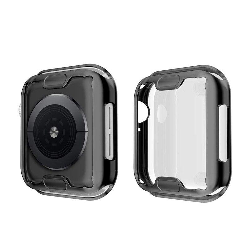 360 Cover per orologio sottile per Apple Watch Case 6 SE 5 4 3 2 1 42MM 38MM proteggi schermo in TPU trasparente morbido per iWatch 4 3 44MM 40MM 2