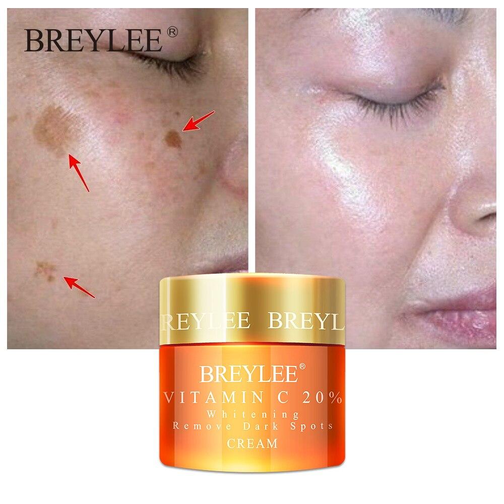 Breylee Vitamin C 20% Vc Whitening Facial Cream Repair Fade Freckles Remove Dark Spots Melanin Remover Brightening Face Care