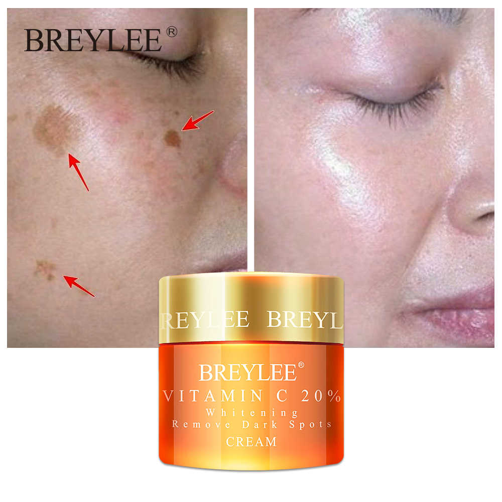 Breylee Vitamin C 20% Vc Whitening Facial Cream Repair Fade Freckles Remove Dark Spots Melanin Remover Brightening Face Care