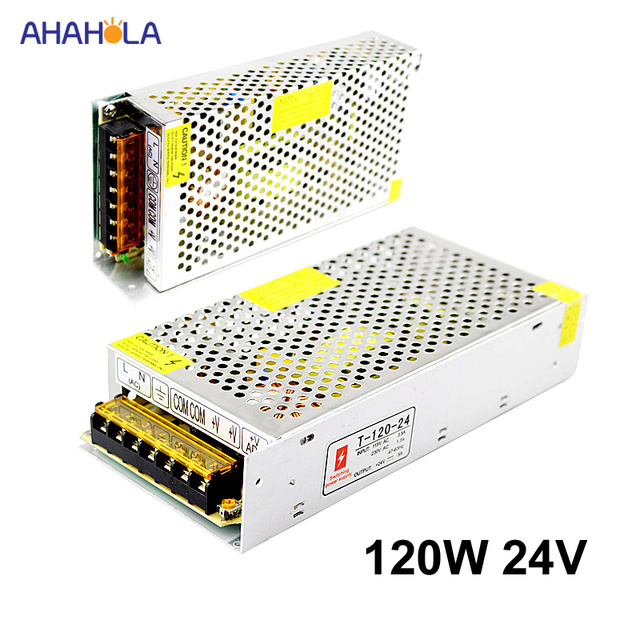 US $14 97 24% OFF|AC 220v to 24v Led Power Supply 24 volt Source Switching  Power Supply 24v 5a 120w 50hz/60hz Smps Source Power Supply 24 v Fonte-in