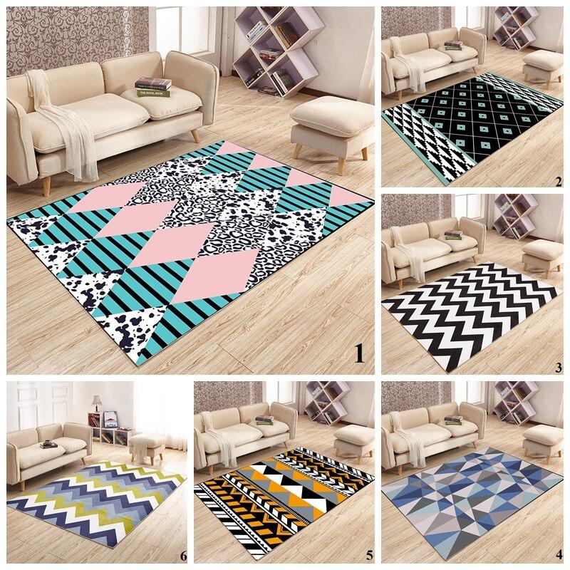 Salon maison tapis tapis géométrique Style nordique chambre sol tapis doux moelleux Pad grande taille zone tapis pour salon
