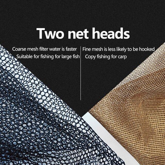 Awesome No1 Foldable Fishing Landing Nets Fishing Accessories cb5feb1b7314637725a2e7: Black coarse-35cm|Black coarse-40cm|Black coarse-45cm|Brown fine-35cm|Brown fine-40cm|Brown fine-45cm