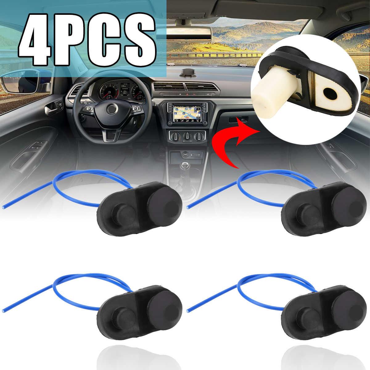 Новое поступление, 4 шт., универсальный автомобильный светильник для внутренней двери, кнопка переключения, детали салона автомобиля, черный цвет