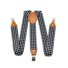 √ Взрослые мужские ломаную клетку 3 клипа длинные висячие брюки с мужской печатной рубашкой ремешок
