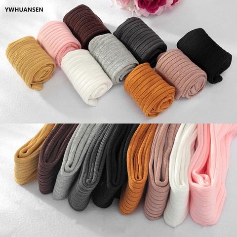 YWHUANSEN 0-6T Spring Autumn Striped Leggings Toddler Girl Cotton Infant Newborn Kids Strumphose Knitted Skinny Pants For Babies Multan