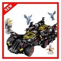 Lepin Batman 07077 1496pcs Marvel Super Heroes Genuine Movie The Ultimate Batmobile Building Blocks Bricks Toys Compatible 70917