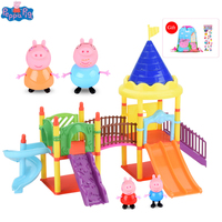 Peppa Pig Figure Toy Amusement Park Toys PVC Action Figures Family Member Peppa Pig Toys for Children Baby Kid Birthday Gift