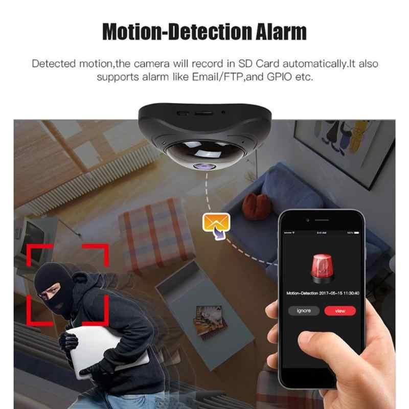 HD 960 P беспроводная wifi ip-камера 1.3MP рыбий глаз камера наблюдения 360 градусов панорамная камера ночного видения няня веб-камера для дома