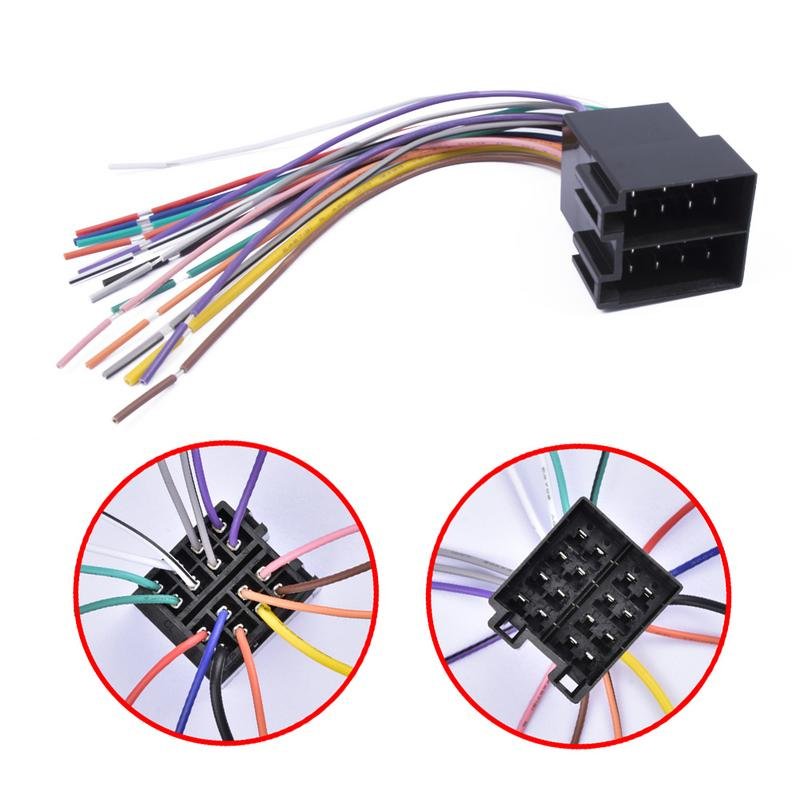 Car Radio Stereo Wire Harness MP5 2Din Car Radio Power Cable Cord