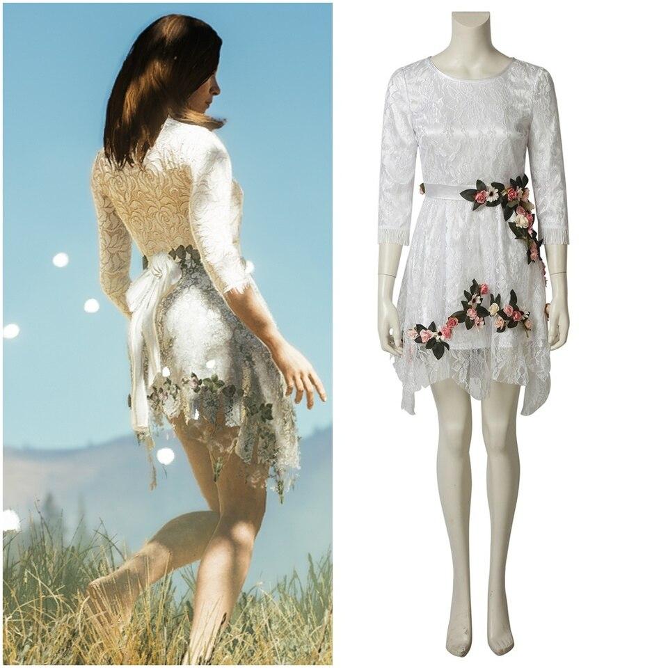 Far Cry 5 Inside Eden S Gate Rachel Jessop Faith Seed Cosplay Costume Women Lace Dress Game Costumes Aliexpress