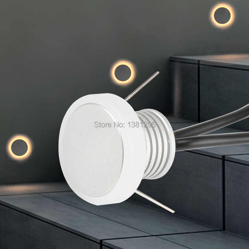Recessed LED Stair Wall Lamp Indoor Lighting Stairs Step Wall Corner Decoration Moon Light 1W 12V Staircase deck Light Fixture