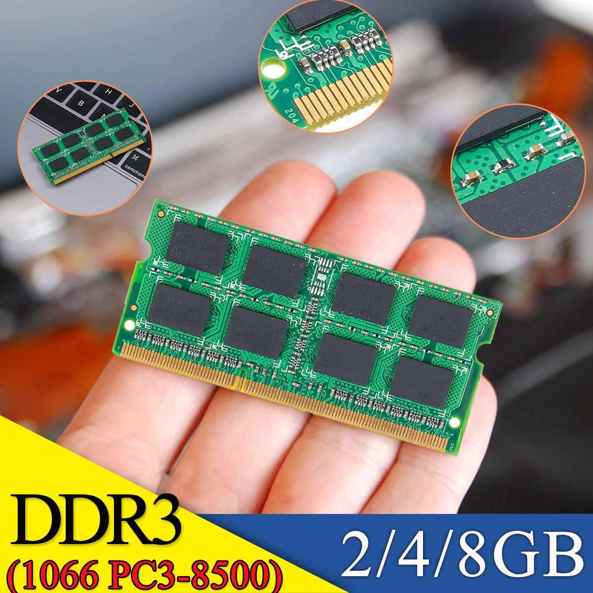 Pour mémoire vive Module ordinateur portable 2 GB 4 GB 8 GB DDR3 1066 MHZ PC3-8500 1.5 V 204PIN
