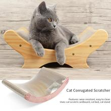 Cat Corrugated Paper Bed Scratch Board Toy Sofa Wearable Easy Clean Scratcher Grinding Claw