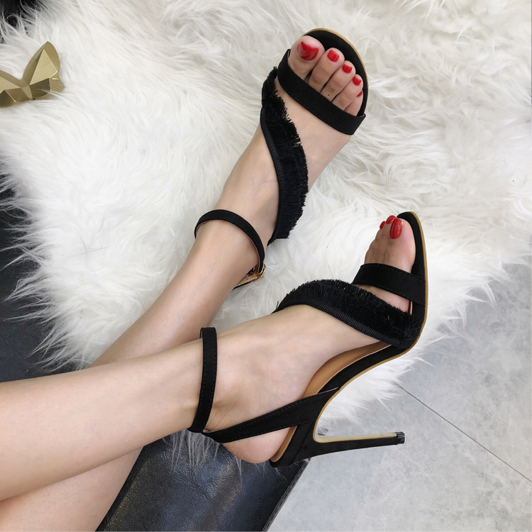 Sandals High With Sandals Woman Tassels Shoes