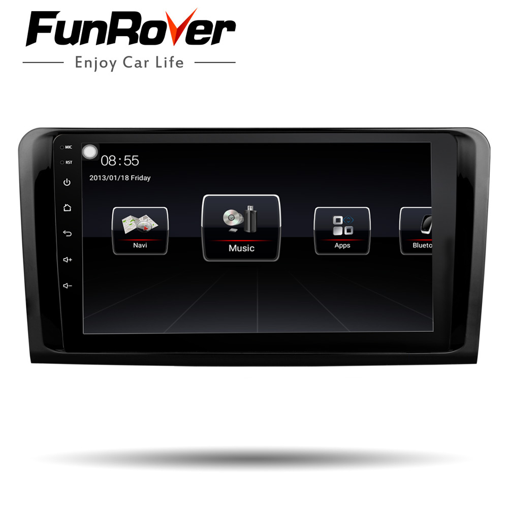 Funrover 9 android8.0 car radio multimedia player 2 din dvd gps For Mercedes Benz ML W164 GL X164 ML350 ML320 ML280 GL350 GL450