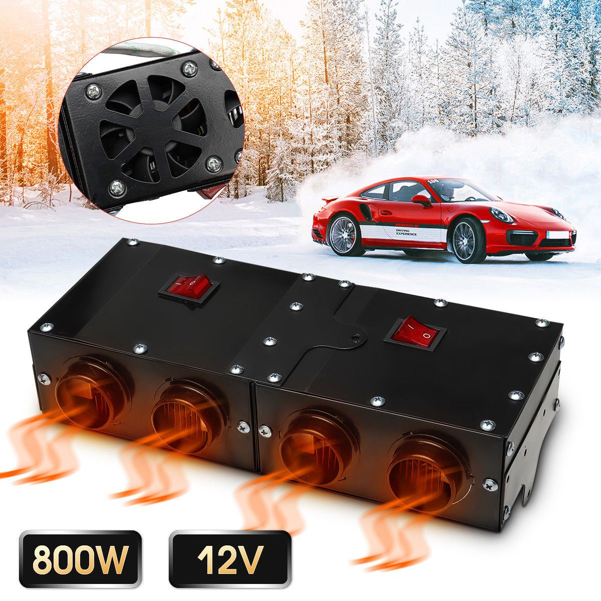 800W/500W Universal Portable Car Heater Auto Van Heating Air Heater Compact Defroster Demister 12V Car Electrical Appliances800W/500W Universal Portable Car Heater Auto Van Heating Air Heater Compact Defroster Demister 12V Car Electrical Appliances