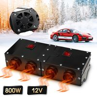 800W/500W Universal Portable Car Heater Auto Van Heating Air Heater Compact Defroster Demister 12V Car Electrical Appliances