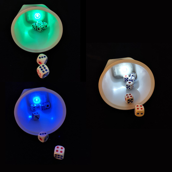 цена на 6pcs Game Dice with  Glowing LED Cup Dices for Dungeons Dragons Games Board Game For KTV Gambling Casino Party