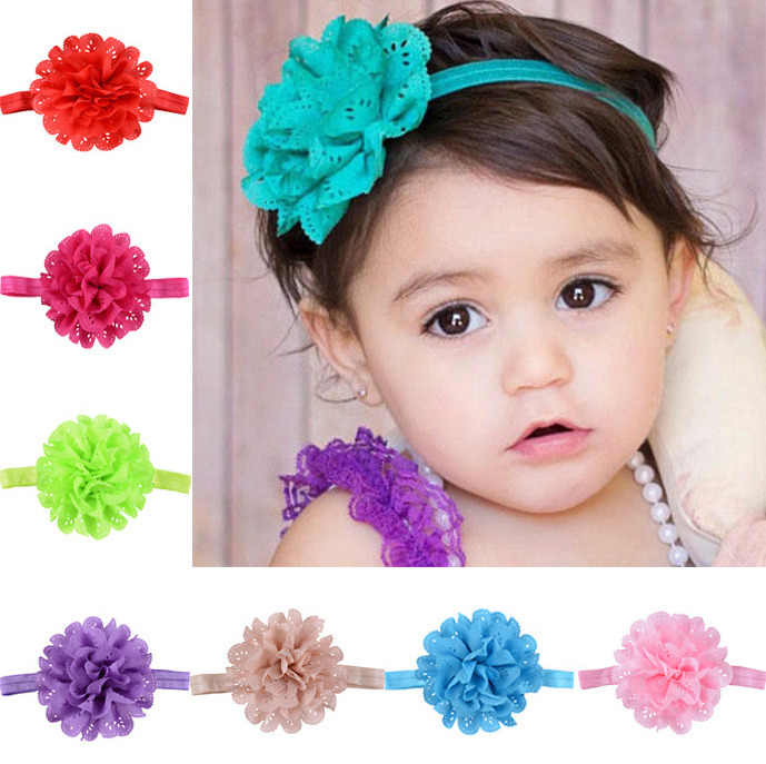 baby girl headband Infant hair accessories clothes band flower newborn floral Headwear tiara headwrap hairband children Toddler