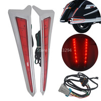 2 x LED Saddlebag Extensions Decorative Accent Lamps Turn Signal Taillights Fits For Victory Cross Country 10 16 Cross Roads