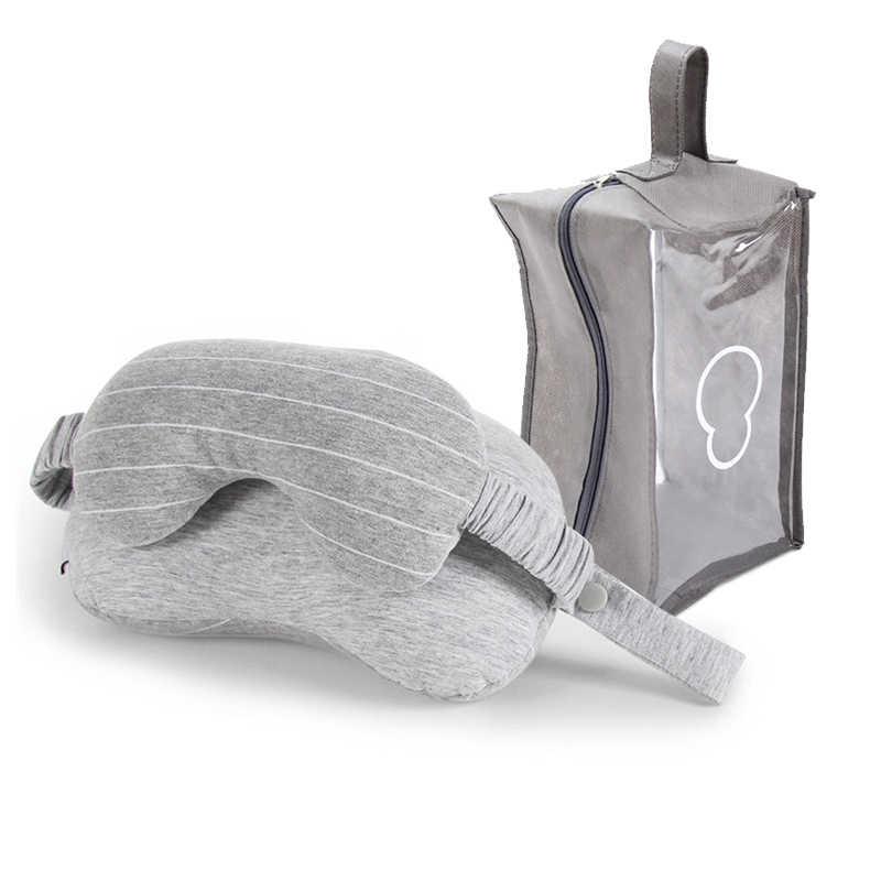 Multifungsi 2 In 1 Perjalanan Leher Bantal & Mata Topeng Set untuk Pesawat Kereta Aksesoris Perjalanan Nyaman Bantal untuk Tidur