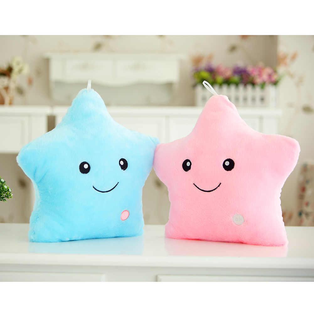 Лидер продаж светящаяся Подушка Star Cushion красочные светящиеся плюшевая кукла-подушка Светодиодная лампа Подушка Красочные рождественские Звезды подарок на день рождения