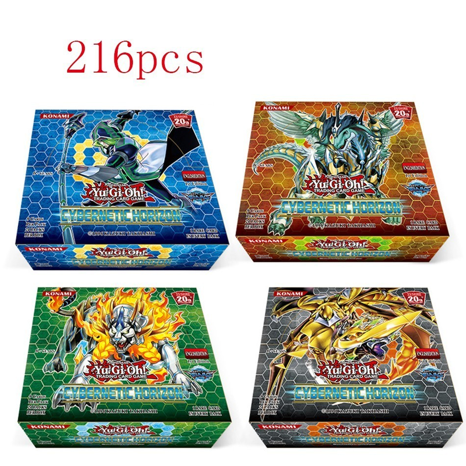 Yu Gi Oh 216 Pcs Set With Box Yu Gi Oh Anime Game Collection Cards Kids Boys Toys For Children