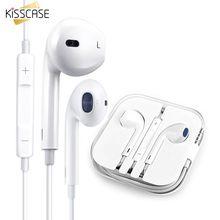 купить KISSCASE In-Ear Volume Control Earphone For Phone Music Stereo Wired Headphone Sports For Huawei For Xiaomi Microphone Headset дешево