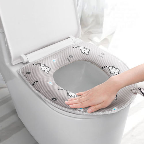 Bathroom Washable Toilet Seat Warmer Soft Protector Toilet Seat Closestool Cover toilet seat