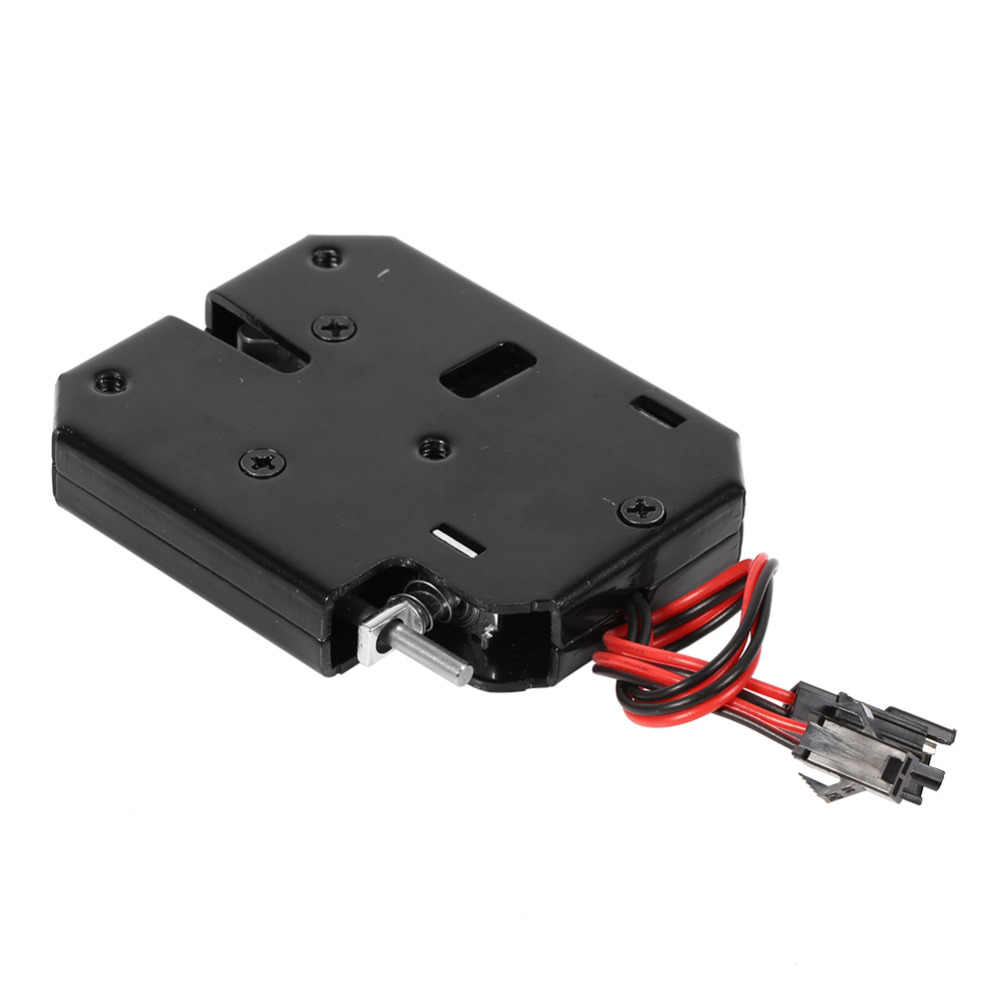 Hot DC 12V 2A Electromagnetic Electric Control Cabinet Drawer Lockers Lock Latch Steel Black With Detecting Switch