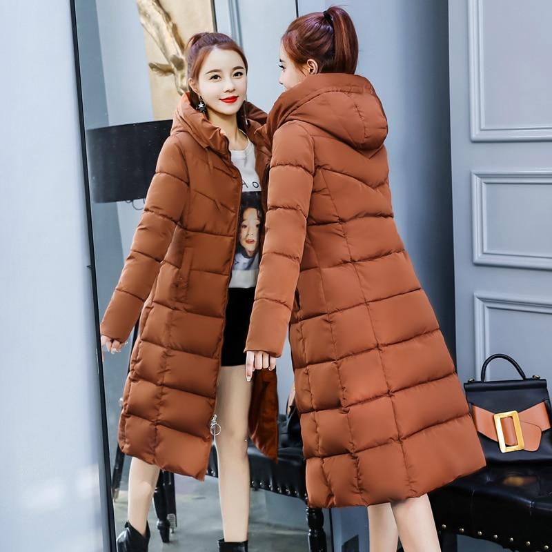 gray Qualité Dames D'hiver Black army 2018 Outwear Long Au Garder Mince Haute Femme brown Capuchon Femmes Green Hiver Vestes À Manteau Parkas Chaud RqqOSdw